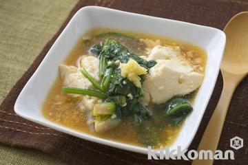 豆腐とほうれん草のとろみ煮