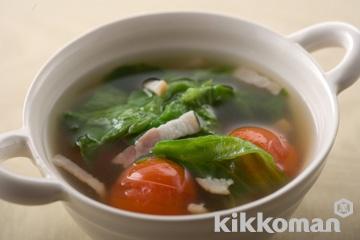 レタスとプチトマトのスープ