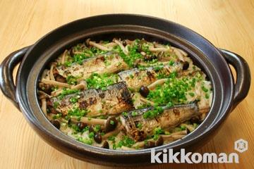 土鍋で炊く!さんまとしめじの炊き込みご飯