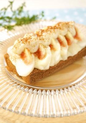 食パンで!!梨といちじくの簡単デザート