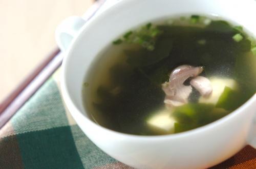 ワカメのチキンスープ