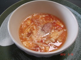 とろとろ トマト缶でスープ