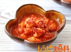 たこのピリ辛トマト煮込み