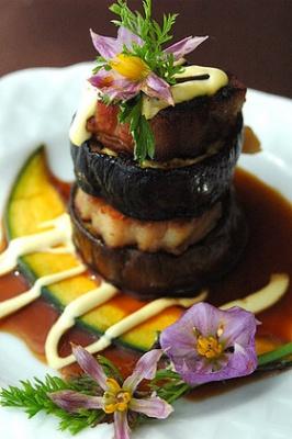 秋茄子とお肉のミルフィーユ
