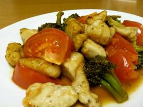 簡単ダイエット!ささみとトマトブロコリ☆