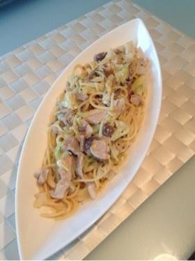 ランチ★豚肉とキャベツのクリームパスタ