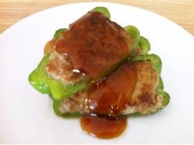 簡単☆豆腐とお麩でふわふわピーマン肉詰め