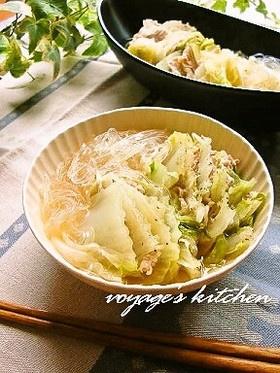 黒胡椒たっぷりで!白菜と豚肉の重ね煮
