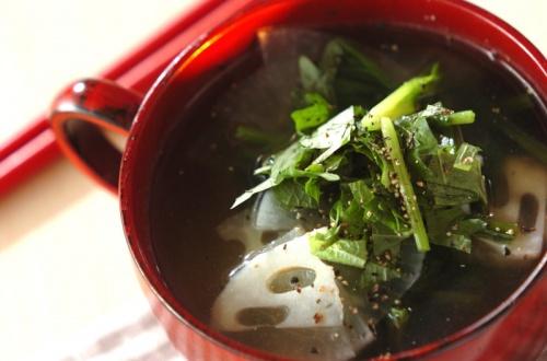 大根とレンコンのスープ