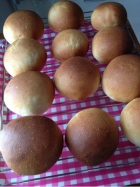 コストコ☆パンケーキミックスで丸パン