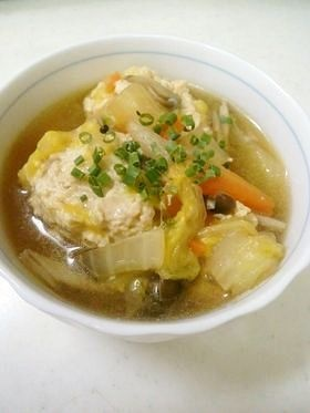 生姜たっぷり鶏団子スープ♡
