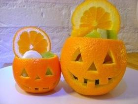 オレンジで簡単☆ハロウィンデザート