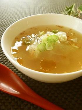 冬瓜と桜えびの中華スープ☆生姜風味