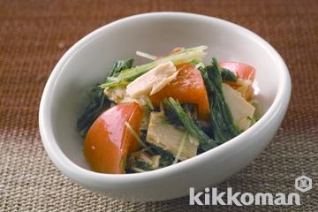 水菜とツナ、トマトの和風サラダ