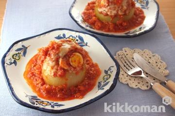 オニオンファルシー トマトソース