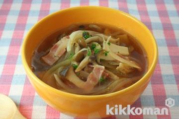 玉ねぎときのこのスープ