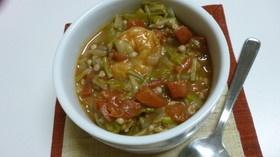 海老のガンボスープ