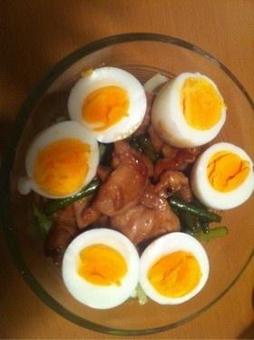ヨシダソースで!鶏肉とニンニクの芽炒め☆