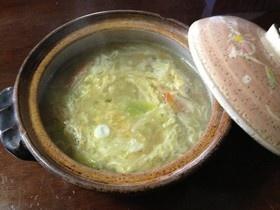 初めての一人暮し☆土鍋でラーメン&雑炊