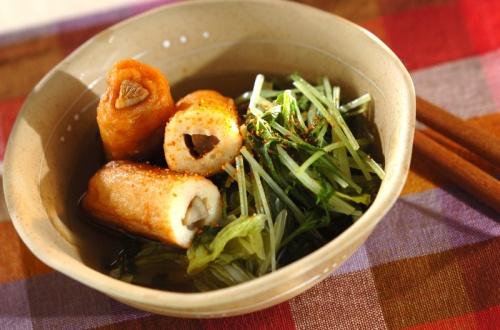 白菜とゴボウ天の煮物