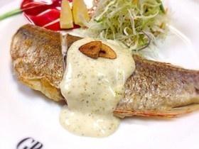 簡単!白身魚の柚子マヨソース