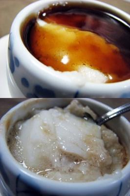 鱈の切り身入り、餡かけとろろ茶碗蒸し