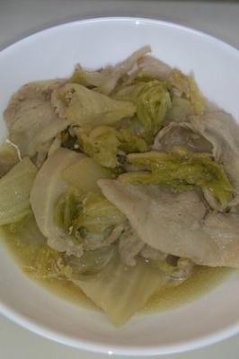 簡単節約♪白菜と豚バラ肉のあったか煮