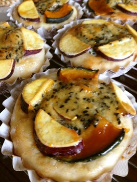 カボチャとサツマイモのアーモンドパン