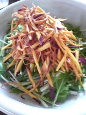 デパ地下デリの味!水菜とさつま芋のサラダ