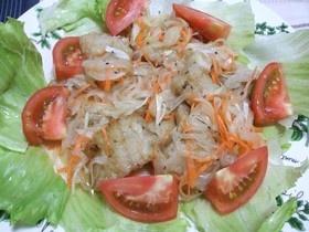 野菜と切り身タラのマリネ
