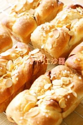 フープロdeパン✿ココア&アーモンドパン