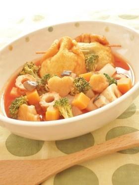 たっぷり野菜のおでん風トマトスープ