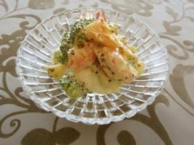 デパ地下風♪海老ブロッコリー卵サラダ