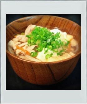 ■簡単休日ランチ■めんつゆで豚汁☆簡単鍋