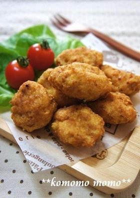 簡単♥ふわふわ♥豆腐と挽き肉の揚げ団子
