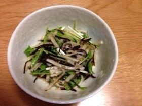 大根、水菜の浅漬け(^_^)