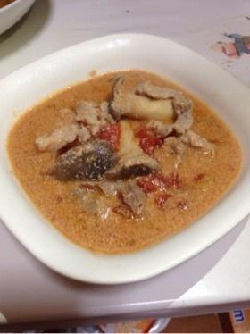 柚子のトマト豆乳スープ