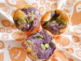 紫芋の玄米マフィン