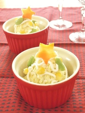 ツリー風✿薩摩芋のホイップドレサラダ
