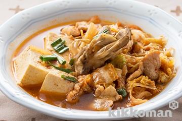 豆腐とキムチのチゲ風