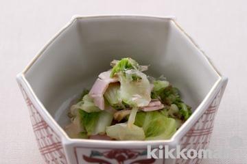 湯引き白菜のおかか和え