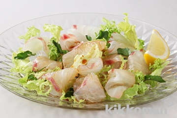 鯛のカルパッチョサラダ