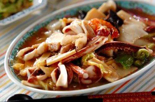 イカと野菜の中華炒め
