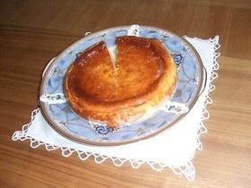 手作りゆずジャムのベークドチーズケーキ