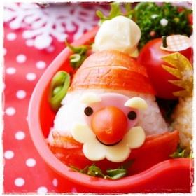 三角サンタおにぎり☆クリスマス*キャラ弁