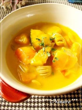 黄色いかぼちゃのクリームシチュー*