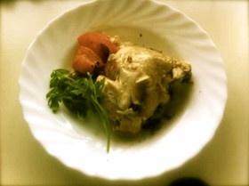 丸ごと鶏の蒸し焼き(塩麹漬け)