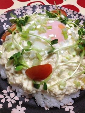 簡単材料でヘルシー豆腐丼(タモさん風)