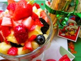 クリスマス簡単パーティートライフルケーキ