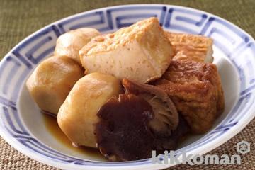 里芋と厚揚げのしょうゆ煮込み